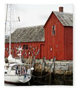 Rockport - Motif Number 1 Fleece Blanket