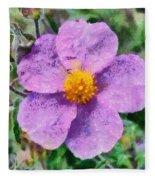 Rockrose Wild Flower Fleece Blanket