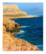Rocks And Sea Fleece Blanket