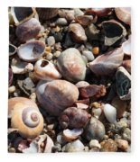 Rocks And Shells Fleece Blanket