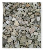 Rocks And Stones Texture Fleece Blanket