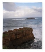 Rocks And Waves  Fleece Blanket