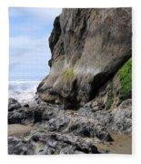Rocks At Arcadia Beach Fleece Blanket