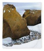 Rocks At Brown Bluff, Antarctica Fleece Blanket