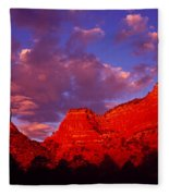 Rocks At Sunset Sedona Az Usa Fleece Blanket