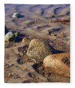 Rocks In A Row Fleece Blanket