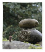 Rocks In The Garden Fleece Blanket