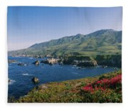 Rocks In The Sea, Carmel, California Fleece Blanket