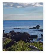Rocks Of Lake Superior Fleece Blanket
