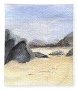 Rocks On Beach Fleece Blanket