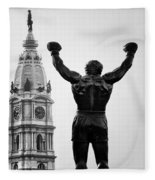 Rocky And Philadelphia Fleece Blanket