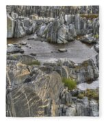 Rocky Arctic Shoreline Fleece Blanket