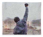 Rocky Balboa Fleece Blanket