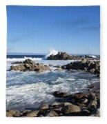Rocky Beach On 17 Mile Drive Fleece Blanket