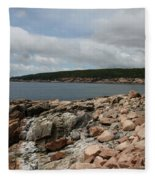 Rocky Coastline Acardia Park Fleece Blanket