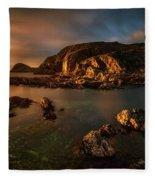 Rocky Coastline At Sunset, Point Fleece Blanket
