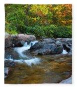 Rocky Creek Above Rocky Falls 1 Fleece Blanket