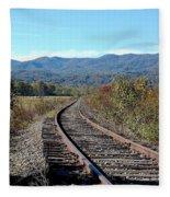 Rocky Creek Railroad Fleece Blanket