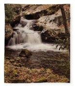Rocky Fork Falls Fleece Blanket