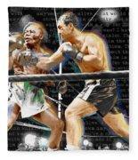 Rocky Marciano V Jersey Joe Walcott Quotes Fleece Blanket