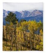 Rocky Mountain Autumn Fleece Blanket