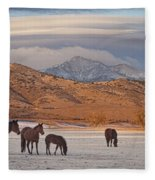 Rocky Mountain Country Morning Fleece Blanket