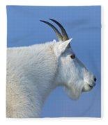 Rocky Mountain Goat Fleece Blanket