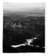 Rocky Mountain Morning Fleece Blanket