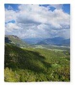 Rocky Mountain National Park Panorama Fleece Blanket