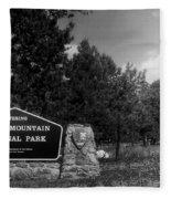 Rocky Mountain National Park Signage Fleece Blanket
