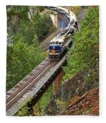 Rocky Mountaineer Railway Fleece Blanket