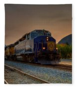 Rocky Mountaineer Sunrise Fleece Blanket