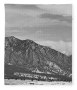 Rocky Mountains Flatirons And Longs Peak Panorama  2 Fleece Blanket