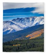 Rocky Mountains Independence Pass Fleece Blanket