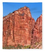 Rocky Mountains Of Zion Fleece Blanket