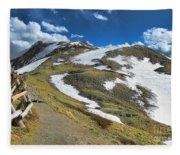 Rocky Mountains Path Fleece Blanket