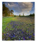 Rocky Prairie Cloud Explosion Fleece Blanket