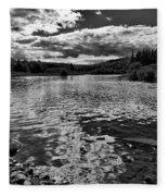 Rocky Shore Of The Moose River Fleece Blanket
