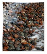 Rocky Shoreline Abstract Fleece Blanket