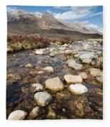 Rocky Stream From Beinn Eighe Fleece Blanket