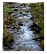 Rocky Stream Fleece Blanket