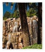 Rocky Waterfall 2 Fleece Blanket