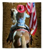 Rodeo America - Land Of The Free Fleece Blanket