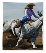 Rodeo Barrel Racer Fleece Blanket