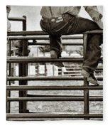 Rodeo Fence Sitters- Sepia Fleece Blanket