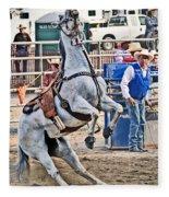 Rodeo Horse Cheers Fleece Blanket