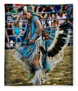 Rodeo Indian Dance Fleece Blanket