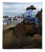 Rodeo Ladies Barrel Race 1 Fleece Blanket