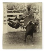 Rodeo Learning To Fly Fleece Blanket