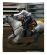 Rodeo Riding A Hurricane 1 Fleece Blanket